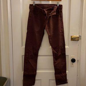 American Eagle Maroon Skinny Jeans